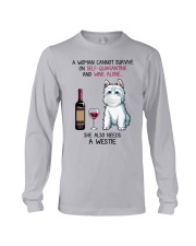 Cannot Survive Alone - Westie Long Sleeve Tee tile