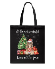 The Most Wonderful Xmas - Lhasa Apso Tote Bag tile