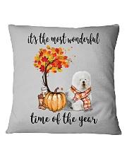 The Most Wonderful Time - Old English Sheepdog Square Pillowcase thumbnail