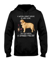 Wine and Spanish Mastiff Hooded Sweatshirt thumbnail