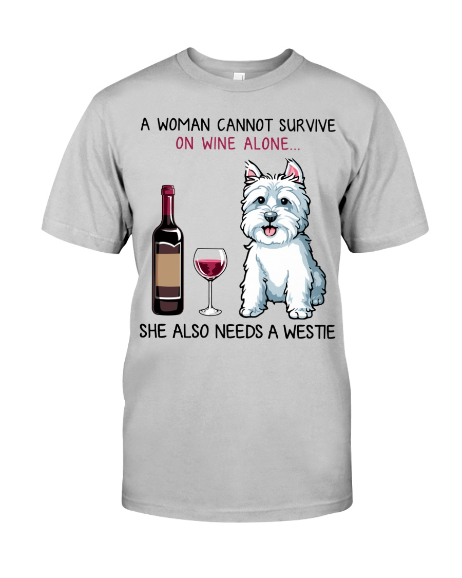 Wine and Westie 2 Classic T-Shirt