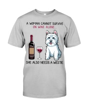 Wine and Westie 2 Classic T-Shirt front