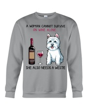 Wine and Westie 2 Crewneck Sweatshirt thumbnail