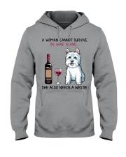 Wine and Westie 2 Hooded Sweatshirt thumbnail