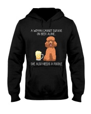 Beer and Poodle Hooded Sweatshirt thumbnail