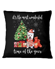 The Most Wonderful Xmas - Westie Square Pillowcase thumbnail