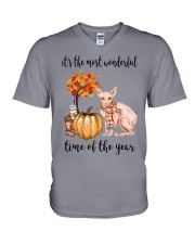The Most Wonderful Time - Sphynx Cat V-Neck T-Shirt thumbnail
