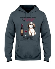 Cannot Survive Alone - Shih Tzu Hooded Sweatshirt thumbnail