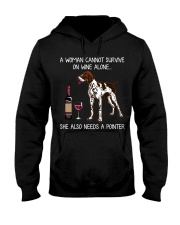 Wine and Pointer Hooded Sweatshirt tile