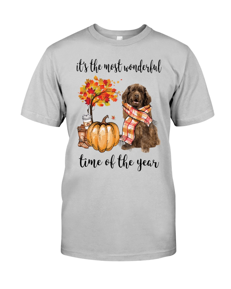 The Most Wonderful Time - Brown Newfoundland Classic T-Shirt