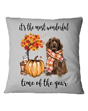 The Most Wonderful Time - Brown Newfoundland Square Pillowcase thumbnail