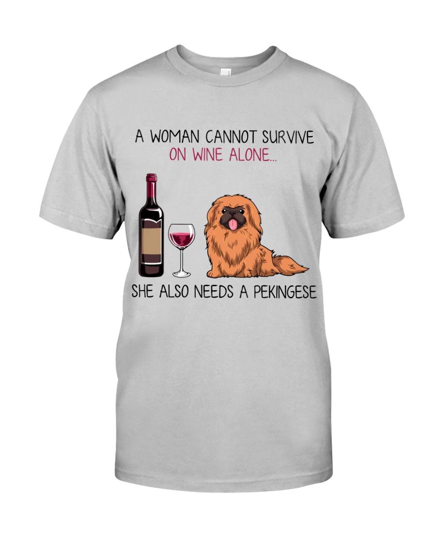 Wine and Pekingese 2 Classic T-Shirt