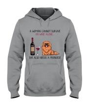 Wine and Pekingese 2 Hooded Sweatshirt thumbnail