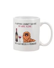 Wine and Pekingese 2 Mug thumbnail