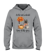 The Most Wonderful Time - Keeshond Hooded Sweatshirt thumbnail