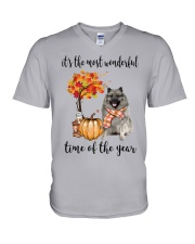 The Most Wonderful Time - Keeshond V-Neck T-Shirt thumbnail
