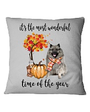 The Most Wonderful Time - Keeshond Square Pillowcase thumbnail