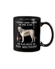 Wine and Irish Wolfhound Mug thumbnail