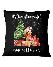 The Most Wonderful Xmas - Poodle Square Pillowcase tile