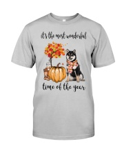 The Most Wonderful Time - Black Shiba Inu Classic T-Shirt front