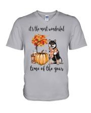The Most Wonderful Time - Black Shiba Inu V-Neck T-Shirt thumbnail