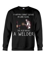 Wine and A Welder Crewneck Sweatshirt thumbnail