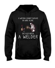Wine and A Welder Hooded Sweatshirt thumbnail