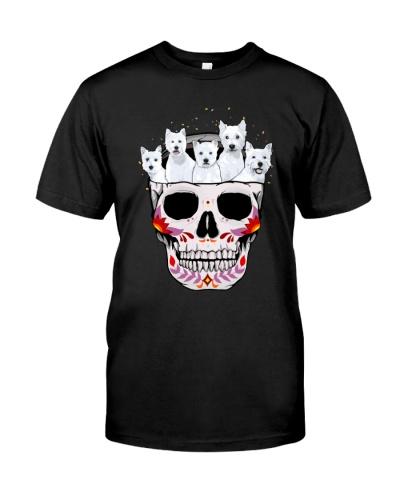 Half Skull Westie