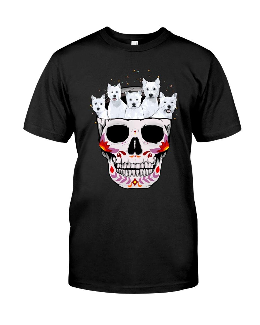 Half Skull Westie Classic T-Shirt