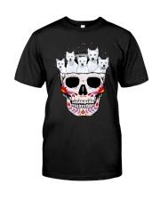 Half Skull Westie Classic T-Shirt front