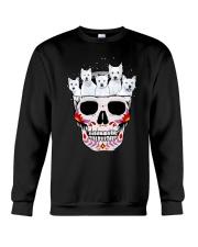 Half Skull Westie Crewneck Sweatshirt thumbnail