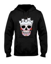 Half Skull Westie Hooded Sweatshirt thumbnail