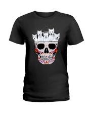 Half Skull Westie Ladies T-Shirt thumbnail