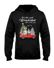 Wonderful Christmas with Truck - Alaskan Malamute Hooded Sweatshirt thumbnail