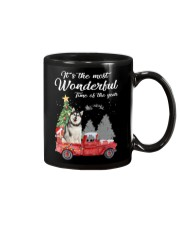 Wonderful Christmas with Truck - Alaskan Malamute Mug thumbnail