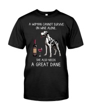 Wine and Great Dane Classic T-Shirt front