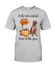 The Most Wonderful Time German Wirehaired Pointer Classic T-Shirt front