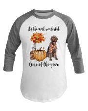 The Most Wonderful Time German Wirehaired Pointer Baseball Tee thumbnail