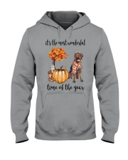 The Most Wonderful Time German Wirehaired Pointer Hooded Sweatshirt thumbnail