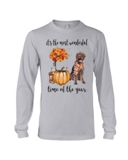 The Most Wonderful Time German Wirehaired Pointer Long Sleeve Tee thumbnail