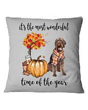 The Most Wonderful Time German Wirehaired Pointer Square Pillowcase thumbnail