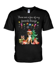 A Few of My Favorite Things - Beagle V-Neck T-Shirt thumbnail
