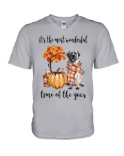 The Most Wonderful Time - English Mastiff V-Neck T-Shirt thumbnail