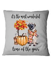 The Most Wonderful Time - English Mastiff Square Pillowcase thumbnail