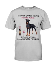 Wine and Manchester Terrier 2 Classic T-Shirt front
