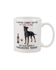 Wine and Manchester Terrier 2 Mug thumbnail