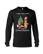 Christmas Wine and German Shepherd Long Sleeve Tee thumbnail
