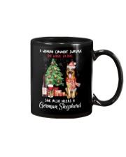 Christmas Wine and German Shepherd Mug thumbnail