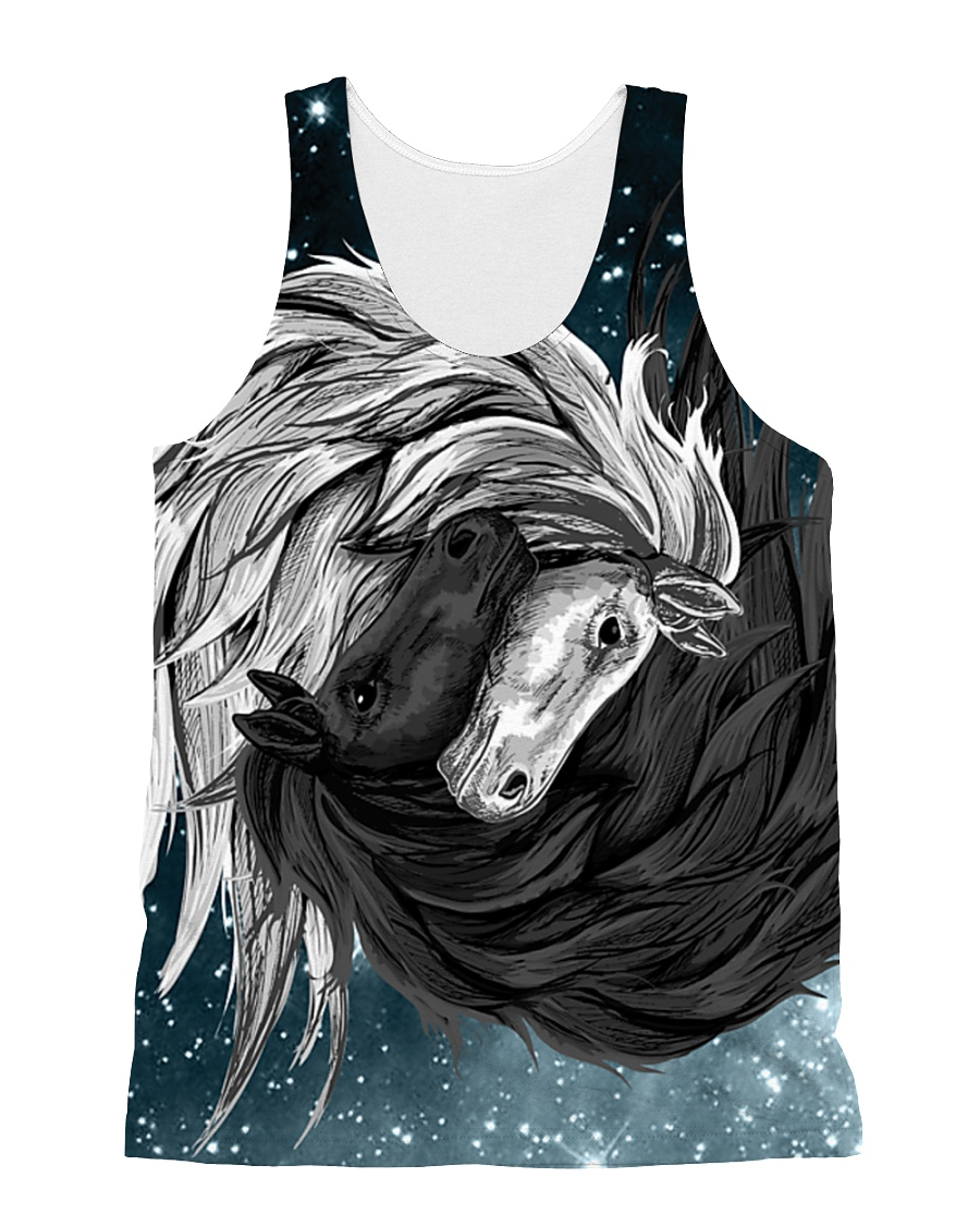 Yin Yang Horses All-over Unisex Tank
