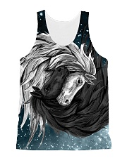 Yin Yang Horses All-over Unisex Tank front